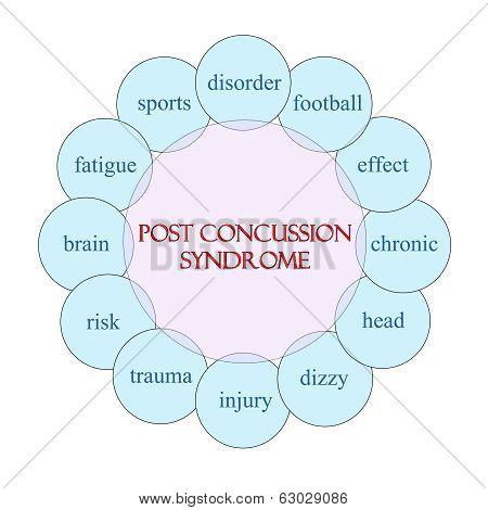 Post Concussion Syndrome Circular Word Concept