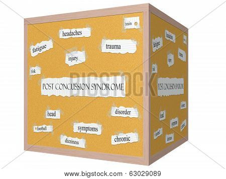 Post Concussion Syndrome 3D Corkboard Word Concept