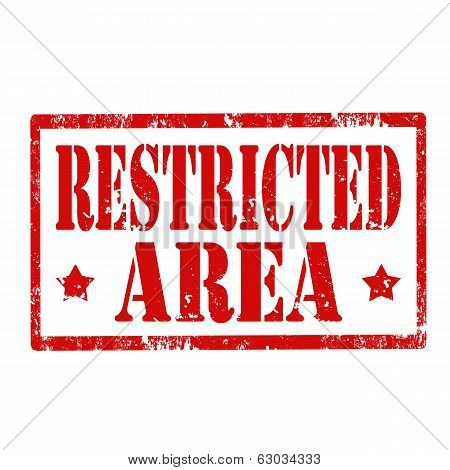 Restricted Area-stamp