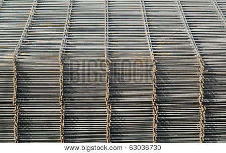 Railings in metal piled the some on the others, the steel reinforcement bars for construction