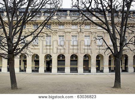 Garden of the Palais Royal in winter (Paris France)