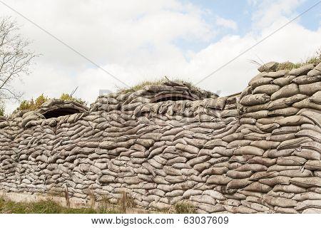 Trenches Of Death Ww1 Sandbag Flanders Fields Belgium