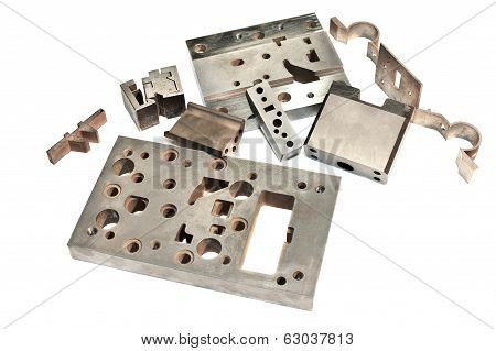 Metal Cnc Details. Matrix And Puncheon. Milling And Drilling Industry.
