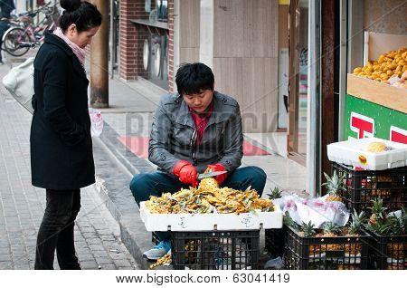 Fruit Stand In Beijing