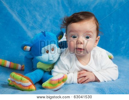 Portrait Of 4 Months Old Baby Boy