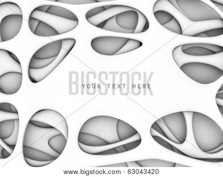 Artistic abstract shape background with copy space 3d illustration