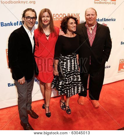 NEW YORK-APR 9: (L-R) Paolo Mastropietro, Jill Hennessy, Susan Cahn, and Mario Batali attend the Food Bank for New York City's Can Do Awards Gala at Cipriani's on April 9, 2014 in New York City.