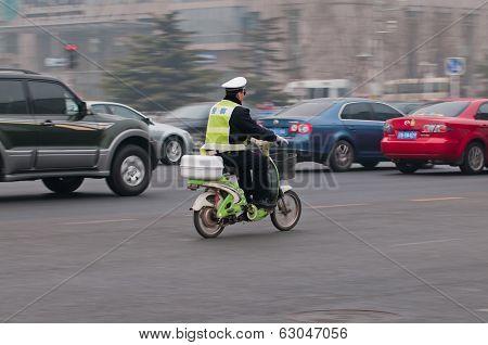 Policeman In Beijing