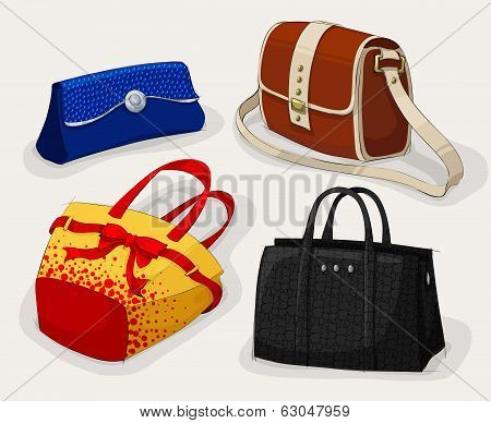 Collection of classic woman's bags