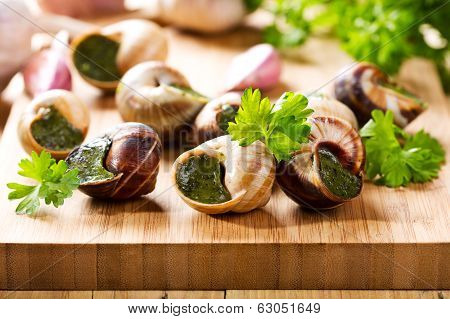 Escargots With Parsley