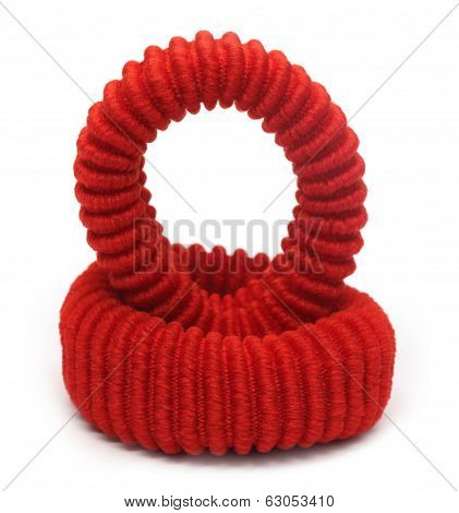Two Red Hair Elastics