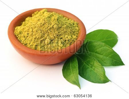 Henna Leaves With Powder