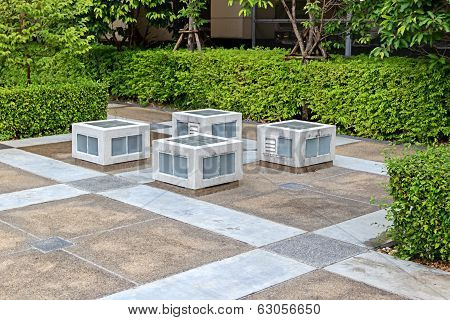Patio In The Garden
