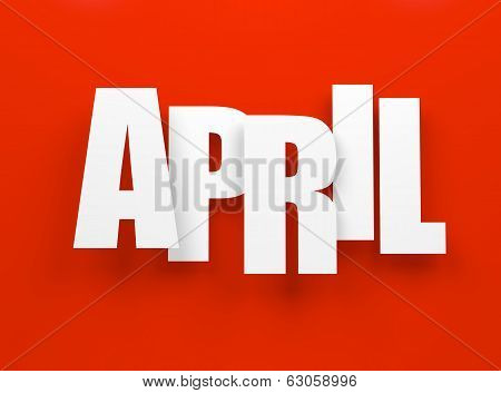 April on red