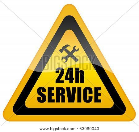 24 service sign
