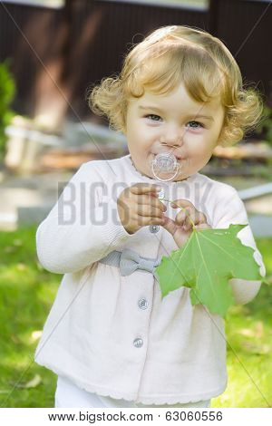 Cute Infant With Nipple