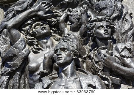 Ghetto Heroes Monument Shown In Close Up
