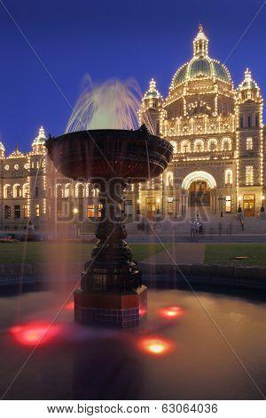 Victoria, Parliament Building Night