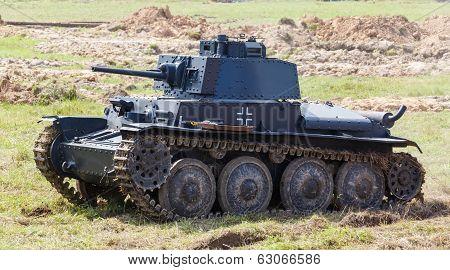 light tank Panzer 38 (t) at the summer