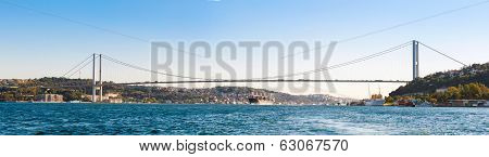 the bridge on Bosphorus panorama