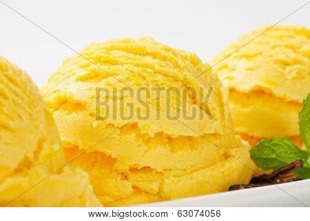 Closeup of gelato
