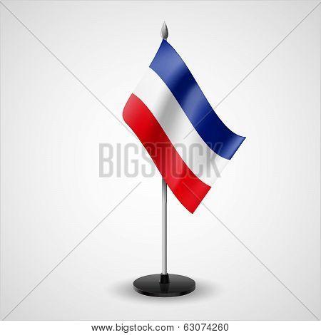 Table flag of Yugoslavia