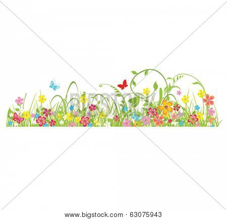 Spring seamless border