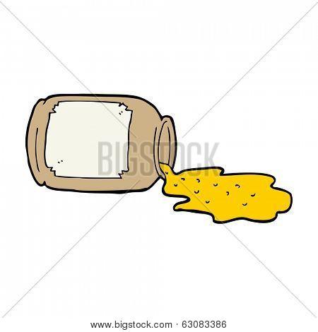 cartoon spilled jam