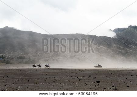 Horses Near Volcano