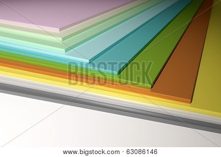 An image of some colorful plain chipboard