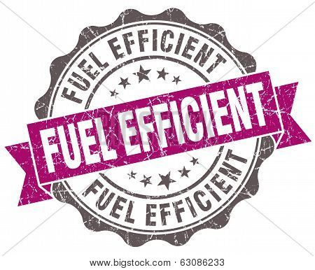 Fuel Efficient Violet Grunge Retro Vintage Isolated Seal