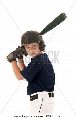 Young  Baseball Player Waithing For A Pitch