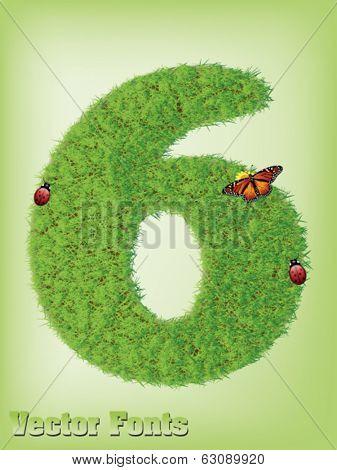 Grass font number 6