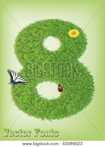 Grass font number 8