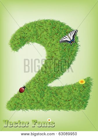 Grass font number 2