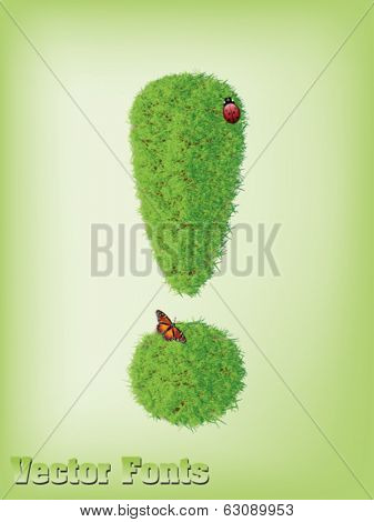 grass exclamation mark vector
