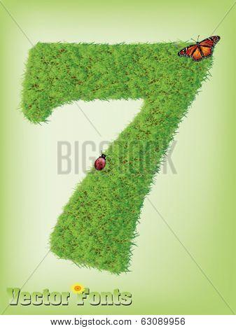 Grass font number 7