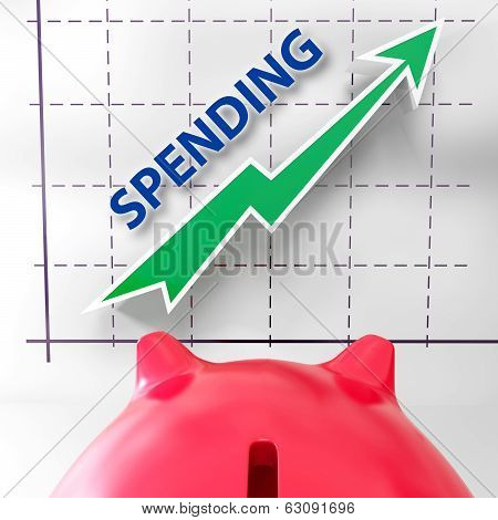 Spending Graph Means Rise In Outgoings And Costs