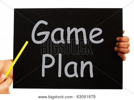 Game Plan Blackboard Means Strategies And Tactics