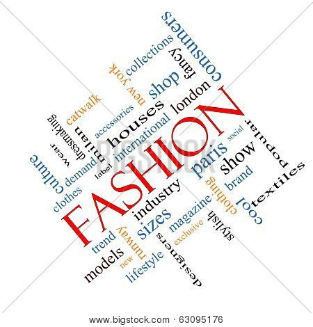 Fashion Word Cloud Concept Angled