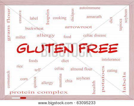 Gluten Free Word Cloud Concept On A Whiteboard