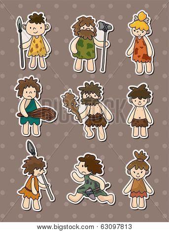 Cartoon Caveman Stickers