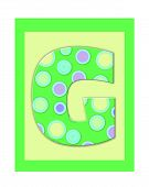 pic of g-spot  - The letter G in the alphabet set  - JPG