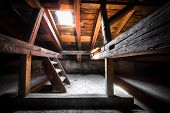 image of rafters  - the attic of an old building detail - JPG