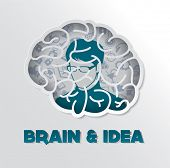 Creative brain Idea concept design