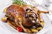 picture of barbary duck  - duck roasted with apples and potato - JPG