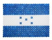 Flag of Honduras made of plastic pearls