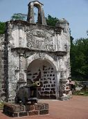 pic of malacca  - The famous iconic A Famosa Fort located in Malacca, Malaysia ** Note: Visible grain at 100%, best at smaller sizes - JPG