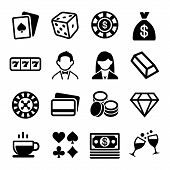 foto of poker machine  - Gambling and Casino Icons Set - JPG