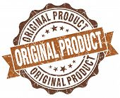 Original Product Brown Grunge Retro Vintage Isolated Seal